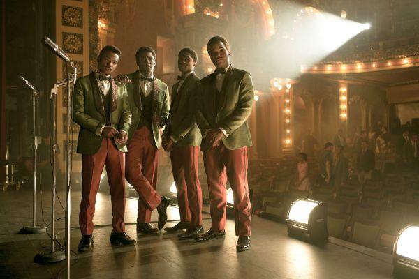 Detroit - Die R&B-Gruppe The Dramatics (v.l.n.r.):...omas)
